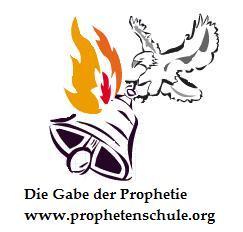 Logo Prophetenschule Adler mit Glocke und Feuer Gottes