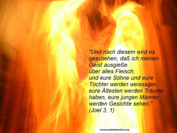 Heiliger Geist Ausgießung Joel 3, 1