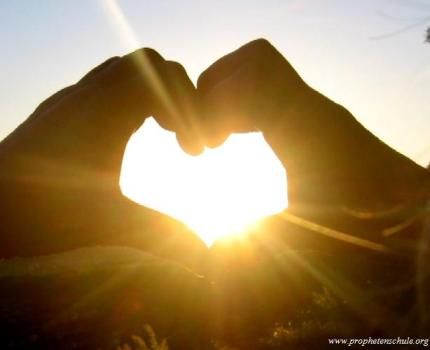 Herz in Sonne