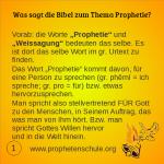 1 Bibelverse über Prophetie
