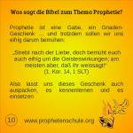 10 Bibelverse über Prophetie
