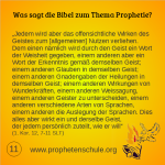 11 Bibelverse über Prophetie