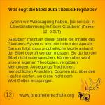 12 Bibelverse über Prophetie