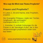 13 Bibelverse über Prophetie