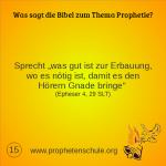 15 Bibelverse über Prophetie