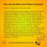 16 Bibelverse über Prophetie