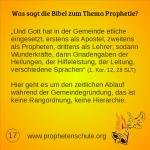 17 Bibelverse über Prophetie