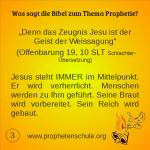 3 Bibelverse über Prophetie