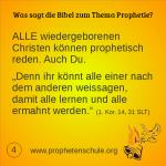4 Bibelverse über Prophetie