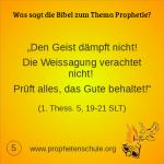 5 Bibelverse über Prophetie