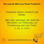 6 Bibelverse über Prophetie