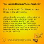 7 Bibelverse über Prophetie