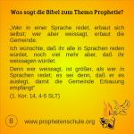 8 Bibelverse über Prophetie