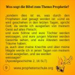 9 Bibelverse über Prophetie