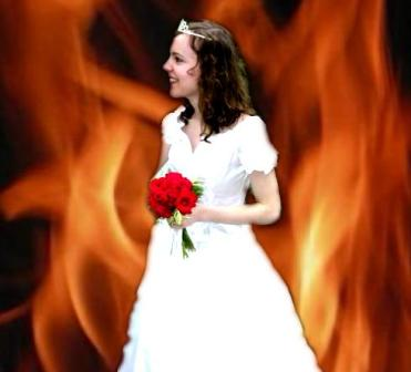 bride of jesus burnng with holy fire and in love with jesus