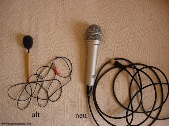 Altes und neues Mikrofon