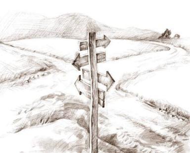 Wege Kreuzung