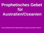 Prophetisches Gebet Australien Ozeanien
