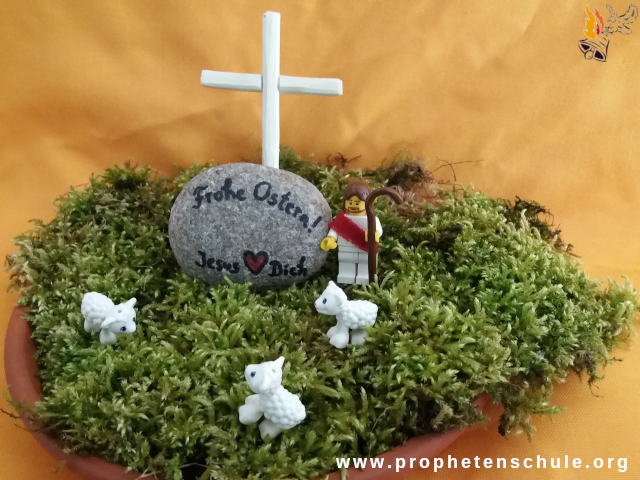 Moos Lego Frohe Ostern Jesus liebt Dich