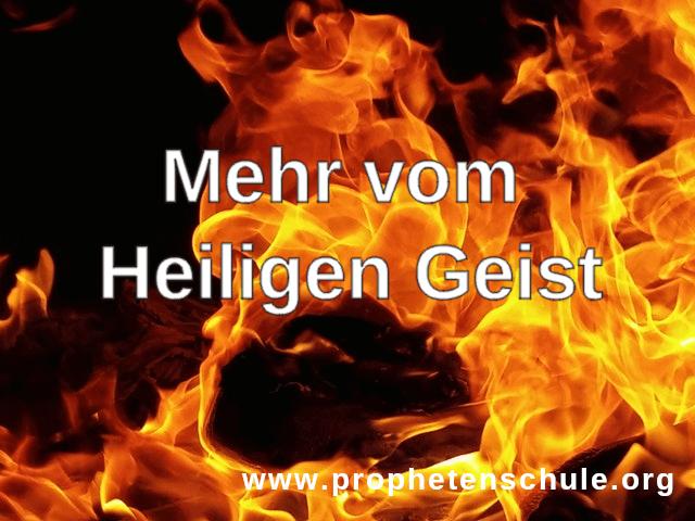 Mehr vom Heiligen Geist Geistestaufe Sprachengebet