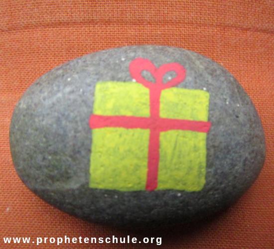 Stein geschenk Botschaft Jesus Rettung Heil