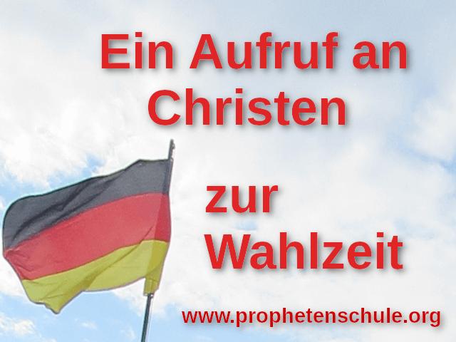 Himmel und Deutschlandflagge. Mit Text - Ein Aufruf an Christen zur Wahlzeit
